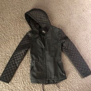Olive green woman's jacket. Size small